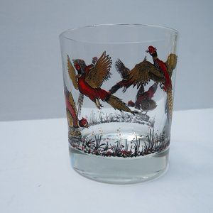 Mid- Century Pheasant Cocktail Drinking Glass  X6